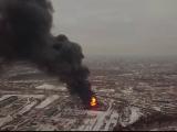 Incendiu uriaș în Rusia. Pompierii s-au luptat ore întregi să stingă flăcările