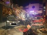 O șoferiță a distrus 11 mașini și un stâlp, în Constanța. Martor: `E apocaliptic`