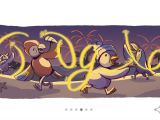 GOOGLE DOODLE. Intrarea în noul an, celebrată de Google printr-un Doodle special