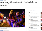 Washington Post: `Românii au nevoie de sprijinul guvernelor occidentale`
