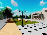 O stradă din centrul istoric al orașului Galați, reconstituită virtual de studenți