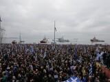 grecia, proteste, miting, macedonia,