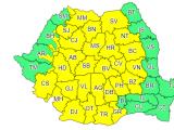 31 de județe, vizate de un cod galben de ploi începând de sâmbătă