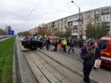 Pietoni accidentați într-un scuar de un șofer care a tras de volan, într-o intersecție din Craiova
