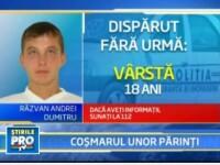 Apel disperat facut de parintii unui tanar disparut de o luna din Bucuresti