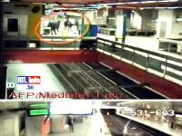 SOCANT! Student bulgar lovit cu salbaticie si aruncat pe sinele metroului