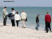 Vremea rece si mohorata de pe litoral ii tine pe turisti inchisi in camerele de hotel