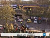 VIDEO. Accident feroviar devastator in Olanda. 120 de pasageri au ajuns la spital