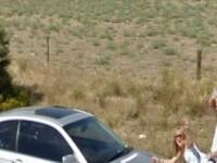 Cuplu surprins in momente intime de Google Street View. FOTO