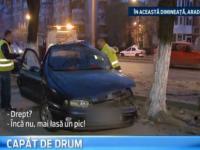 Sfarsit tragic pentru un barbat din Arad. A murit dupa ce s-a izbit cu masina de un copac