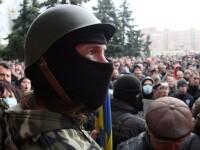 Criza din Ucraina. Presedintele Turcinov a semnat un decret care permite interventia armata in zonele cu revolte proruse