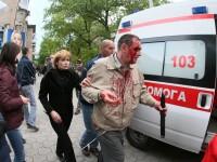 Criza in Ucraina. Violente la Donetsk. Simpatizantii proeuropeni au fost atacati cu bastoane si cutite de separatistii rusi