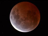 GALERIE FOTO cu cea mai scurta eclipsa totala de luna. Urmariti aici inregistrarea integrala a fenomenului