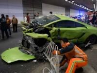 Un Lamborghini si un Ferrari facute zob la Beijing inainte de premiera filmului