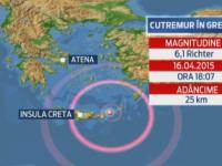 Cutremur cu magnitudinea de 6,1 inregistrat joi seara, in estul Cretei