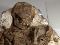 Trupul unei femei care a trait acum 4.800 de ani, descoperit de arheologi.