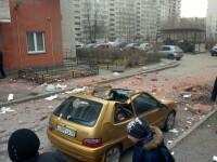 Explozie la un bloc din Sankt Petersburg, in aceeasi zona in care politistii au dezamorsat prima bomba. Fatada s-a prabusit
