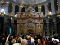 Mormantul lui Iisus, restaurat. Descoperirea facuta sub placa de marmura