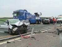 Scene terifiante surprinse pe A1: un angajat de la Drumuri a murit dupa ce 3 masini s-au izbit in lant. Ce au vazut martorii