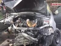 Accident grav cu o mașină în care se aflau înghesuiți 4 copii și 4 adulți