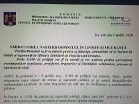 Gafă la Poliţia Română. A anunţat ce măsuri vor fi luate de Crăciun, în loc de Paşte