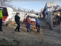 Constănţeni, amendaţi pentru că ţineau cai şi caleşti în spatele blocului. VIDEO