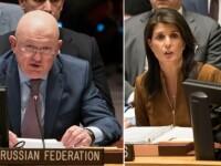 """Rusia și SUA, confruntare la ONU. """"O acțiune militară în Siria va avea repercusiuni grave"""""""