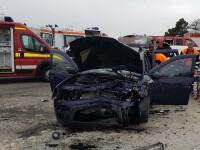 Accident grav petrecut pe DN3, în care au fost implicate trei mașini. O persoană a murit