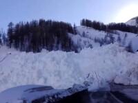 Avalanșă spectaculoasă filmată în estul Franței. VIDEO