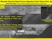 Rusia și-a retras 9 nave și 2 submarine din Tartus. Imaginile surprinse din satelit