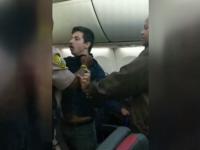 Scandal într-un avion, în SUA. Un pasager sub influența drogurilor a pipăit o femeie