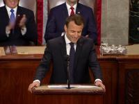 Macron a ironizat gesturile de afecțiune dintre el și Trump, în Congresul american