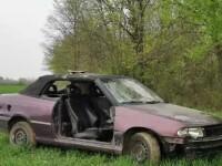 Tânăr din Timiș prins cu o mașină fără portiere, portbagaj și neînmatriculată. Explicația lui
