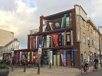 """""""O bibliotecă de mărimea unui bloc"""". Ideea unui artist care unește comunități. GALERIE FOTO"""