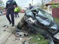 Dezastru pe DN 72 provocat de un șofer care a ațipit la volan. 6 persoane, la spital
