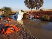 Accident cu 16 morți și zeci de răniți. Mașina lor a căzut într-un canal de irigații