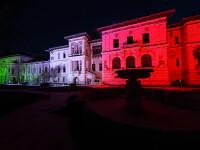 Palatul Cotroceni, iluminat în culorile steagului italian, în semn de solidaritate