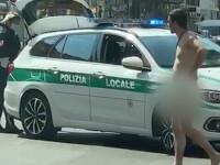 A ieșit din carantină dezbrăcat pe stradă. Ce le-a spus polițiștilor
