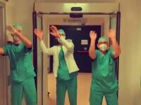 """VIDEO Medicii au dansat și au cântat pentru cei aflați în izolare. """"Mai rezistați puțin, vă rugăm"""""""