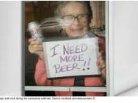 """""""Mi se termină berea!"""" Ce cadou a primit o bătrână de 93 de ani aflată în izolare"""