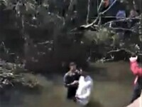 Botez în apele unui râu din România, în plină pandemie de coronavirus