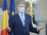 """Președintele Klaus Iohannis: """"Suntem încă pe un trend ascendent al epidemiei"""""""
