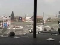 VIDEO. Cod portocaliu de vijelie puternică la Satu Mare, unde vântul a depășit 95 de km/h