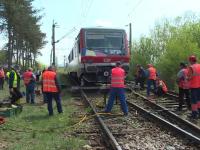 """Tren deraiat în apropierea unei gări din județul Bistrița-Năsăud: """"Am auzit o bubuitură"""""""