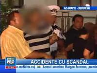 Accidente rutiere cu scandal, în Capitală