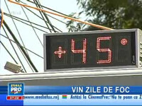 Caniculă în sudul României! Astăzi vor fi 40 de grade la umbră!