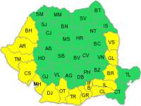 Cod galben de caniculă în 15 judeţe din sudul României