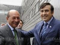 Traian Basescu si Mihail Saakashvili fata in fata
