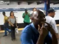 Bataie rupta din metrou. Cum se incing doi barbati in America