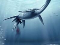 Monstru marin din vremea dinozaurilor, insarcinat. Reptila nastea pui vii